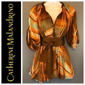 Catherine Malandrino Boho Silk Blouse